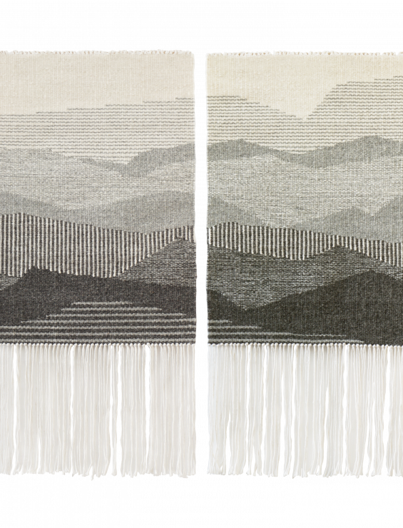 MOUNTAINS GRAY DIPTYCH